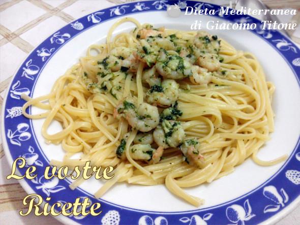 Pasta con i gamberetti - Foto Fan di Giacomo Titone by Dieta Mediterranea