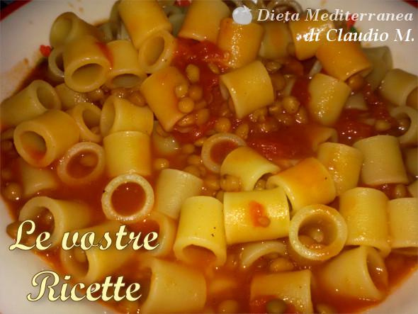 Pasta con le lenticchie - Foto Fan di Claudio M. by Dieta Mediterranea