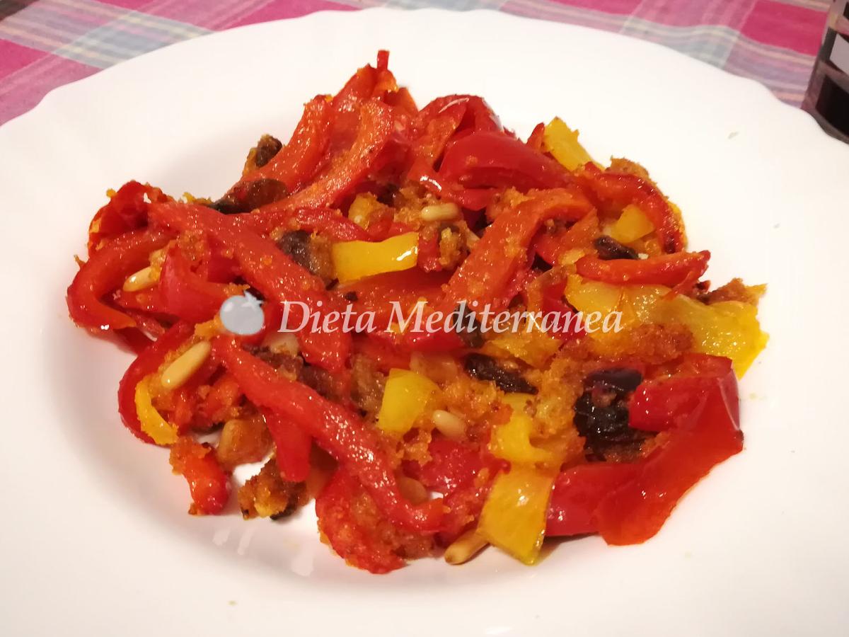 Peperoni con la mollica (pangrattato) e Parmigiano by Dieta Mediterranea