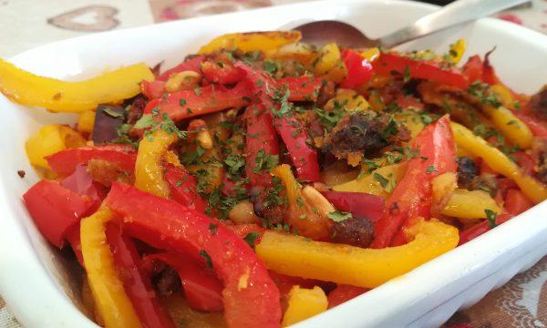 Peperoni con la mollica (pangrattato) e Parmigiano