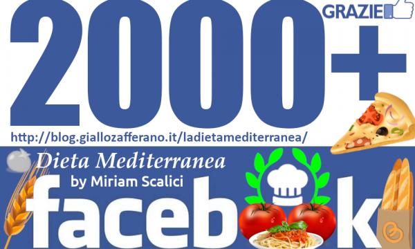 Facebook: 2000 volte GRAZIE