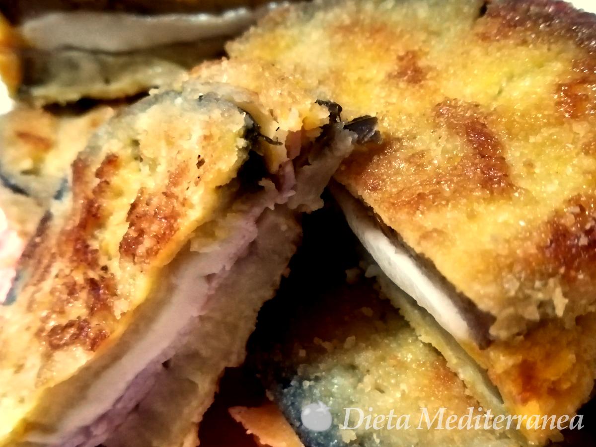 Cotolette di MELANZANE RIPIENE by Dieta Mediterranea