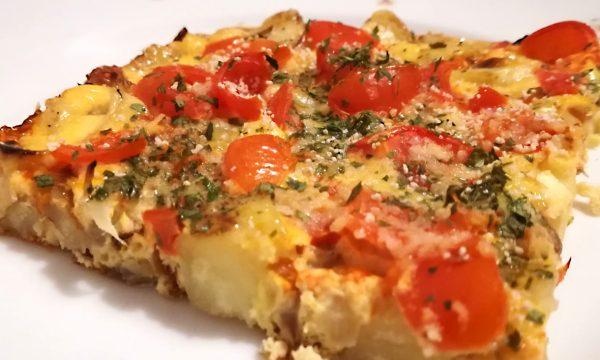 Frittata al FORNO con Patate, Cipolla e Pomodorini