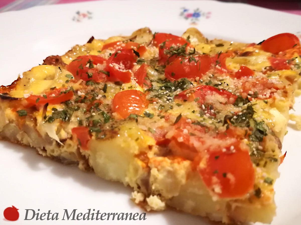 Frittata al FORNO con Patate, Cipolla e Pomodorini by Dieta Mediterranea