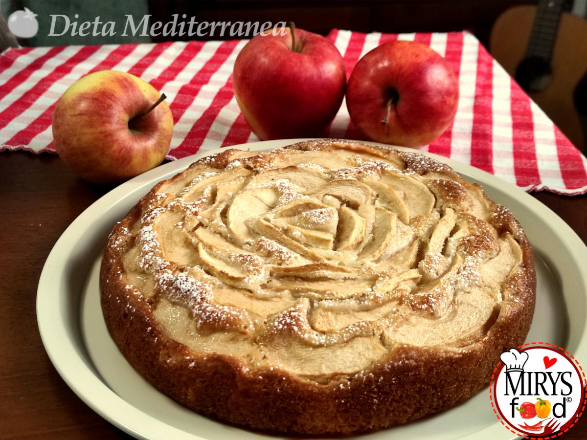 Torta di Mele SENZA BURRO e SENZA UOVA by MIRYS food di Dieta Mediterranea