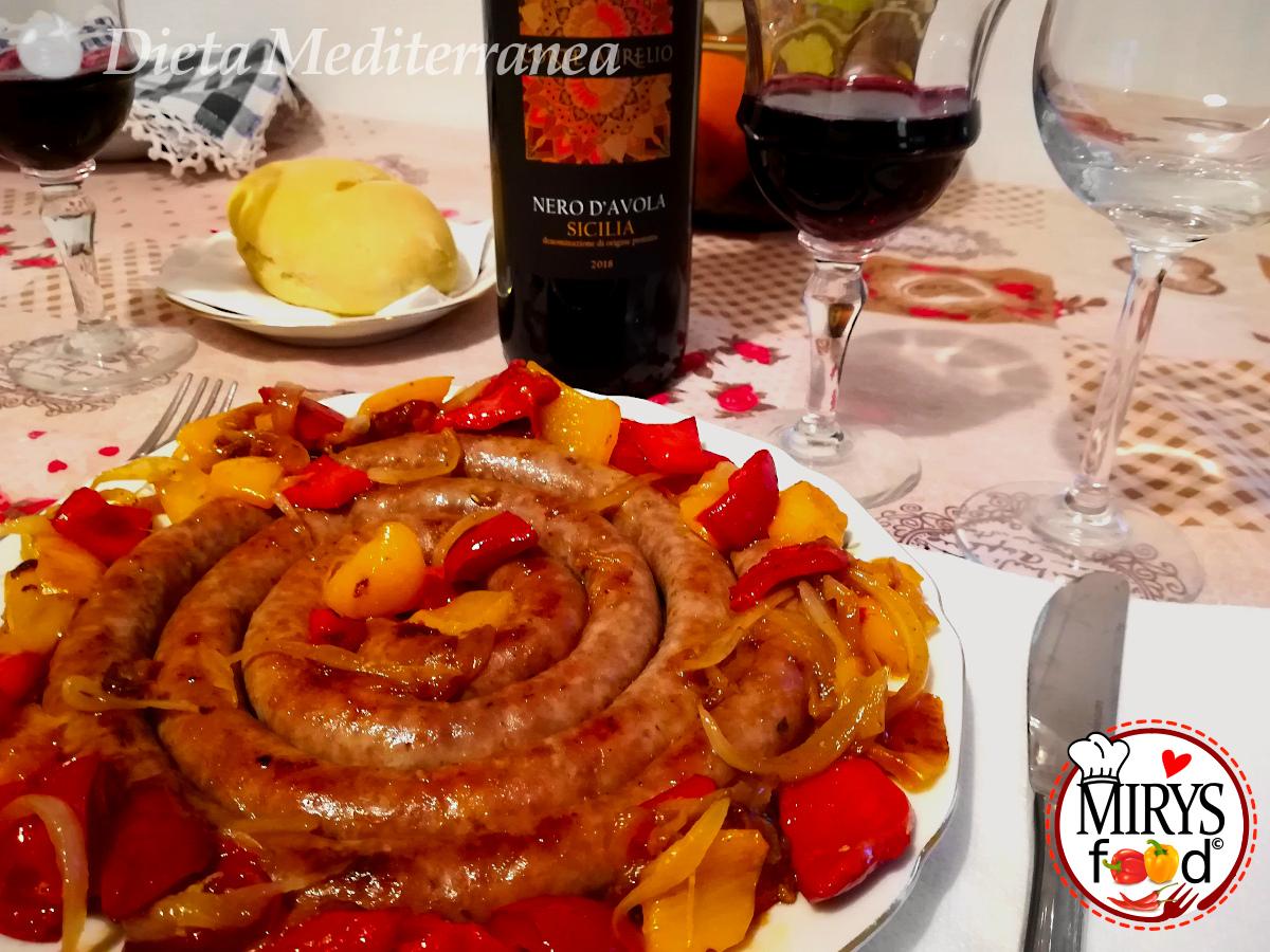 Girella di Salsiccia e Peperoni by MIRYS food di Dieta Mediterranea