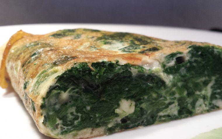Le ricette della Lady: omelette agli spinaci