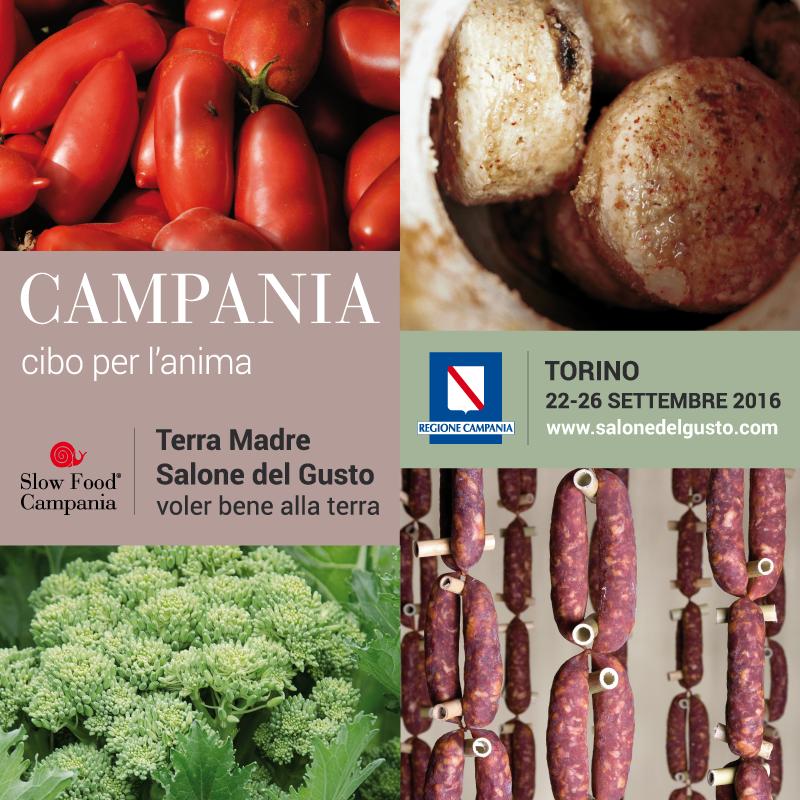"""La Campania a Terra Madre Salone del Gusto: cinque giorni per raccontare la Campania """"cibo per l'anima"""