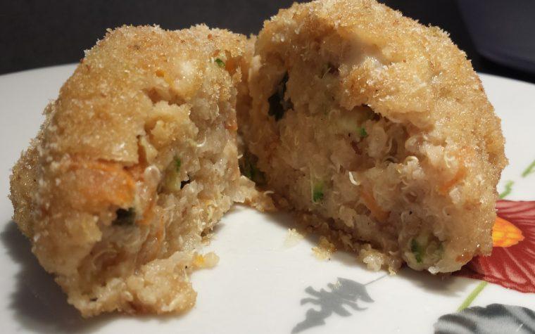 Le ricette della Lady: polpette di Quinoa, verdure e formaggio