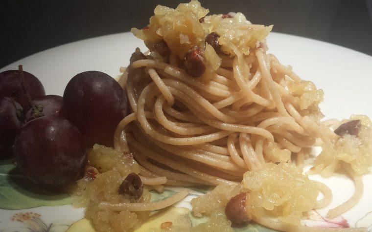 Le ricette della Lady: spaghetti integrali all'uva