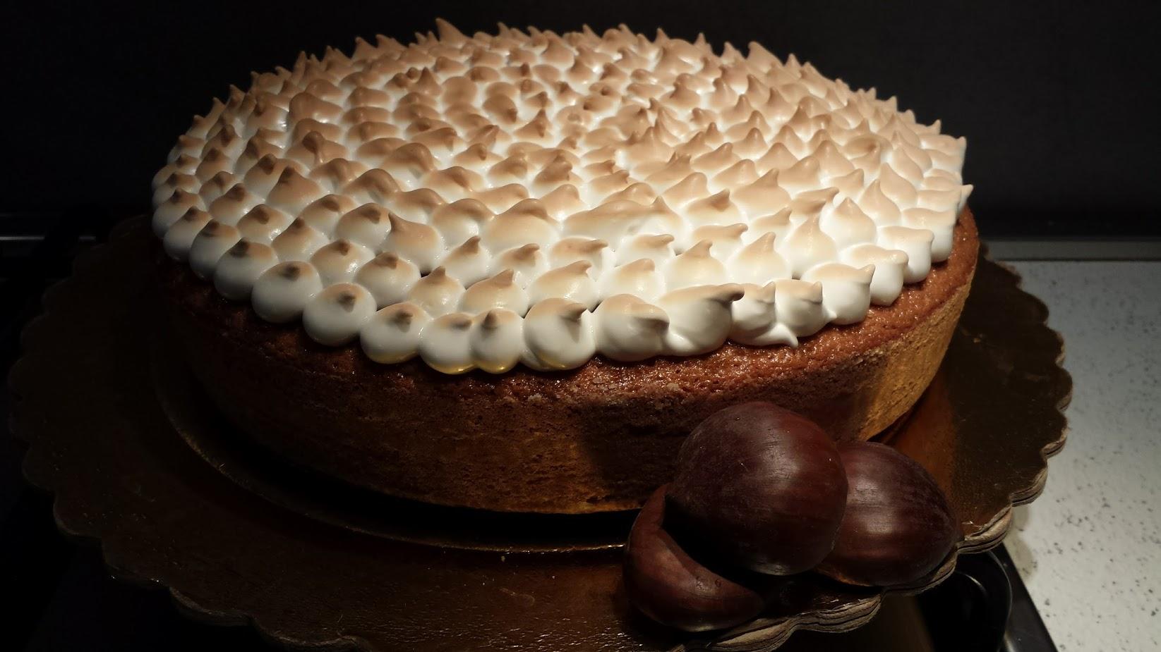 Le ricette della Lady: torta di castagne con meringa all'italiana