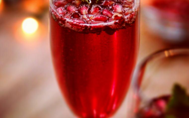 Le ricette natalizie della Lady: un cocktail al melograno per il benvenuto al 2017!
