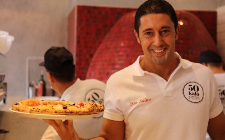 Ciro Salvo, unico pizzaiolo (tra 10 top chef!) protagonista della cena di gala per celebrare i 10 anni di Eataly Torino