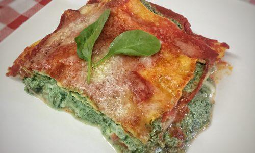 Lasagne ricotta e spinaci, ricetta vegetariana