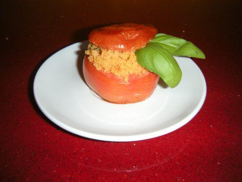 Pomodori al forno ripieni di cous cous all'italiana