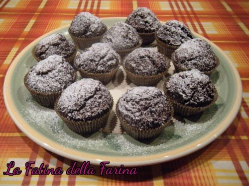 Muffin al triplo cioccolato