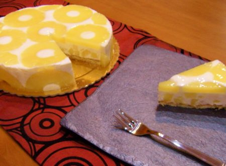 Torta fredda ananas yogurt e cocco