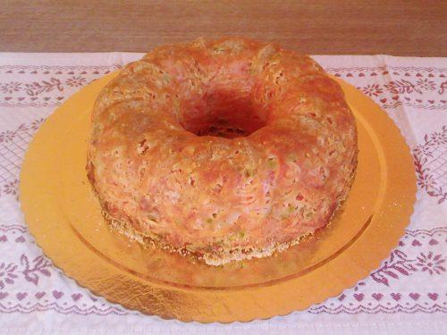 Torta rustica di spaghetti e verdure