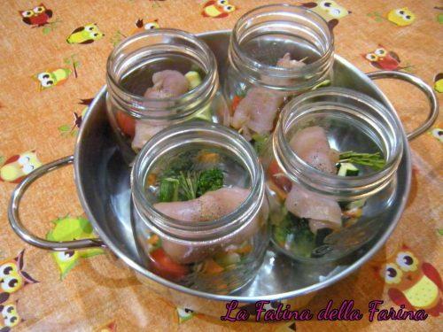 Involtini di pollo e verdure in vasocottura