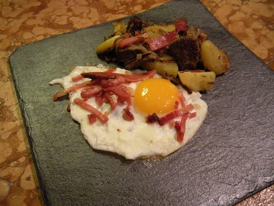 Grestel di patate carne e speck