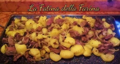 Grestel di patate carne e cipolle