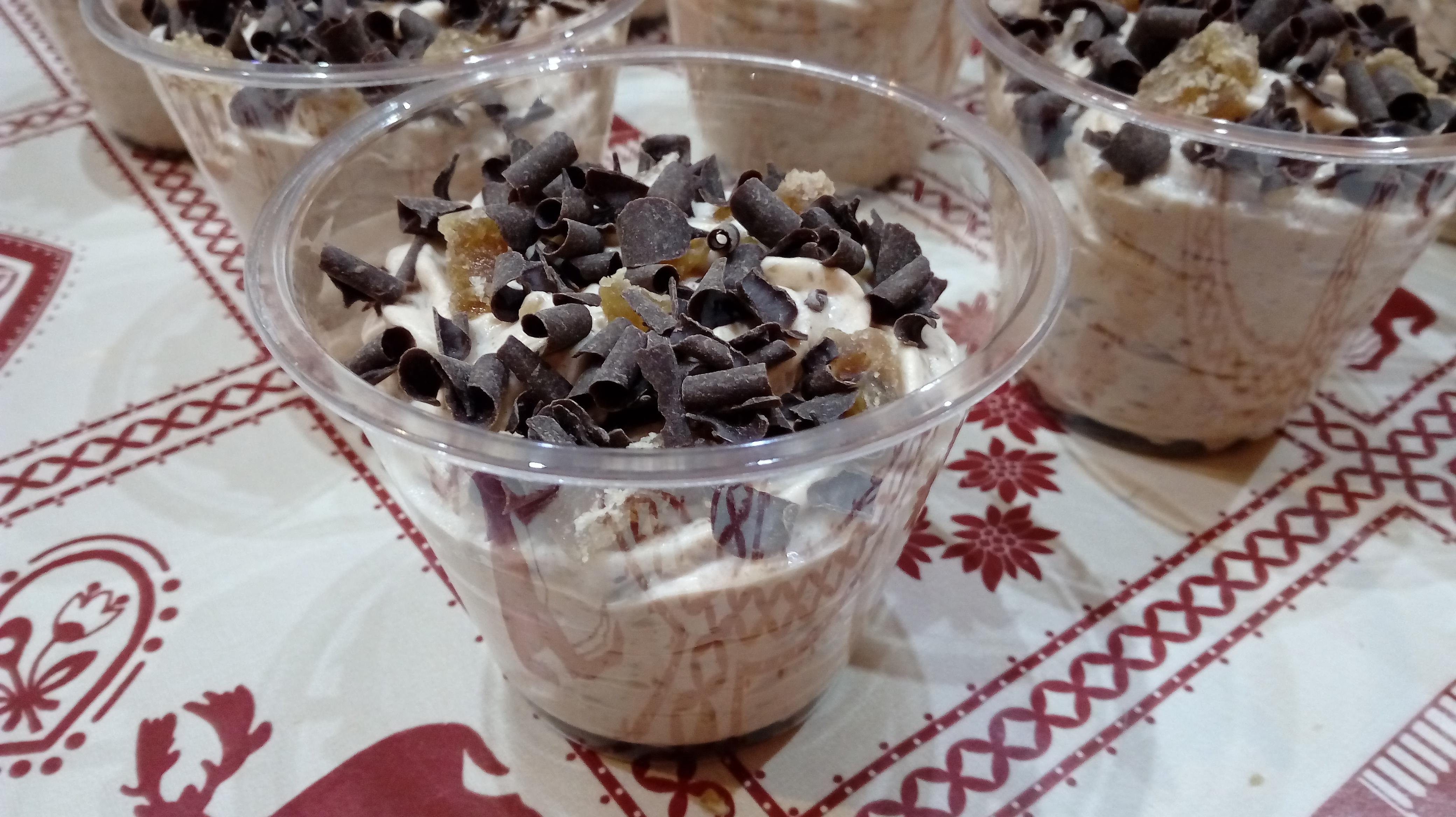 Mousse di castagne cioccolato e marron glacé