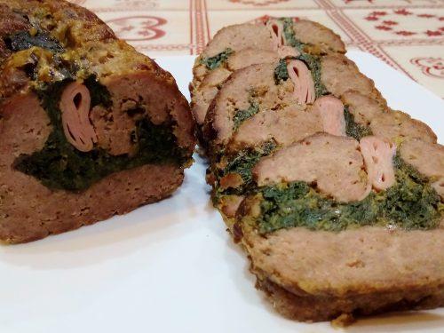 Polpettone spinaci e mortadella