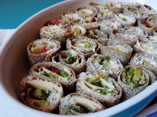 Girelle di galettes con speck formaggio e verdure