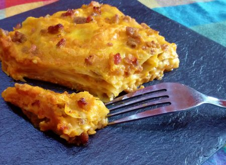 Lasagne zucca salsicce e gorgonzola