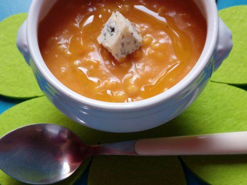 Crema di zucca orzo perlato e gorgonzola