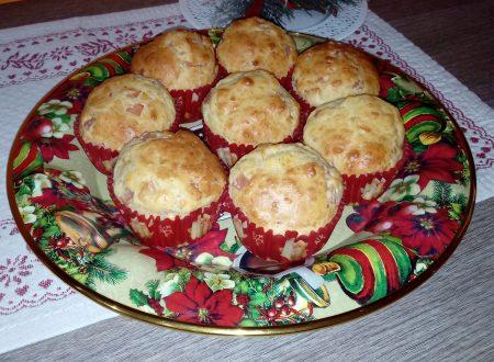 Muffin prosciutto cotto parmigiano e olive