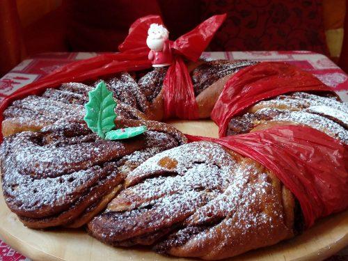 Ghirlanda dolce natalizia