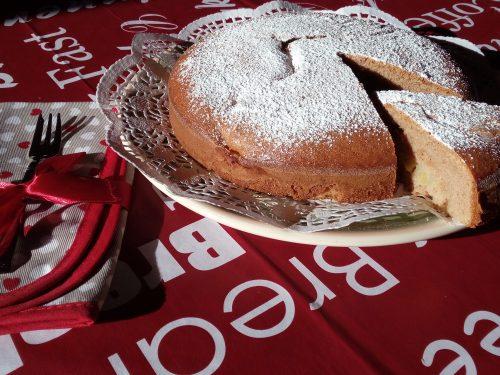 Torta rustica ananas e cannella