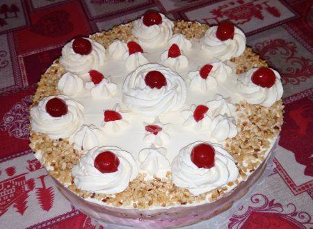 Torta gelato amarene e cioccolato