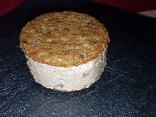 Biscotti gelato nutella e panna