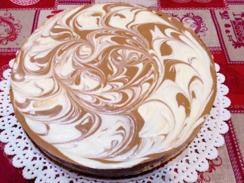 Cheesecake marmorizzato al triplo cioccolato