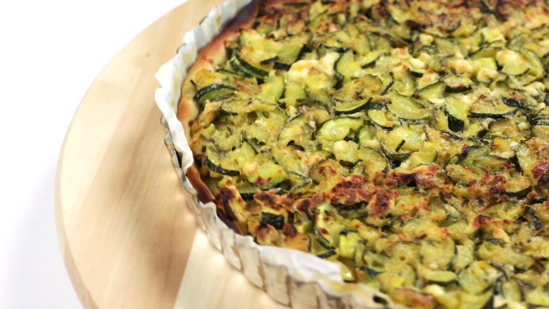 Torta Salata Con Zucchine Ricotta E Pancetta La Forchetta Dargento