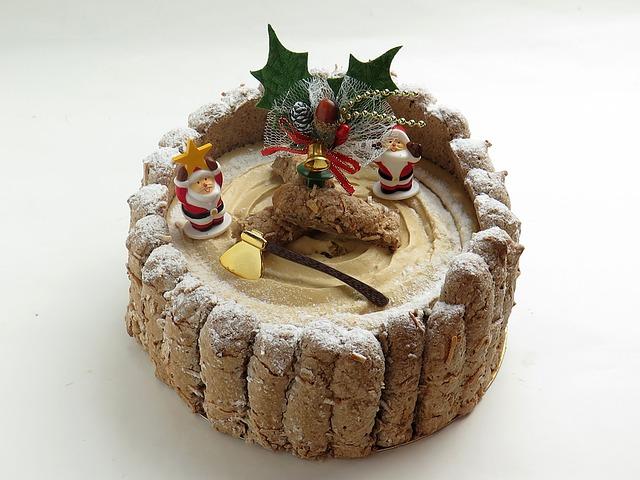 Torta charlotte natalizia gusto tiramis la forchetta for Decorazione waffel