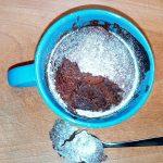 Torta in Tazza al Cacao veloce e Light