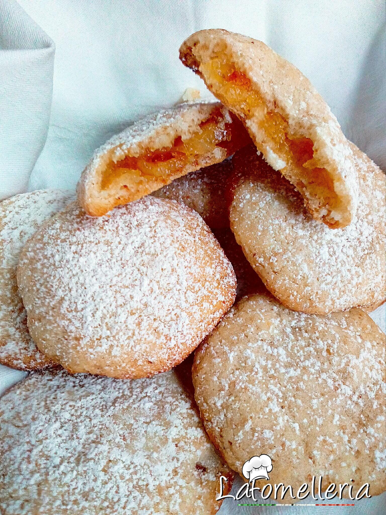 Biscotti farciti all'Arancia di Pasta Frolla light senza Burro e Uova