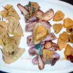 Filetto di Manzo alle Erbe con Cuori di Patata e Zucca e Zenzero Fritto