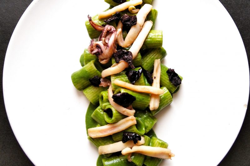 Spinaci Calamaro e Olive
