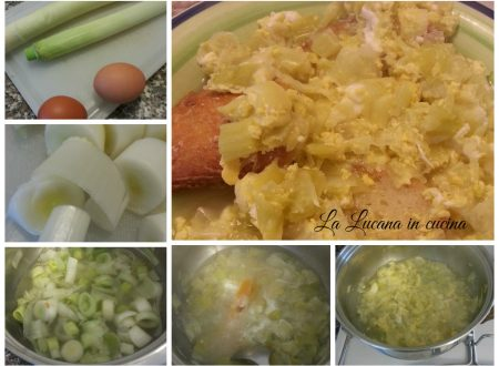 Acqua sala lucana, zuppa di porri e uova