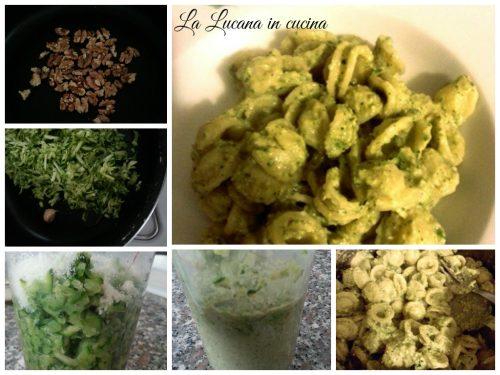 Pesto di zucchine e noci tostate