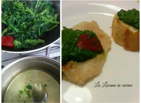 Filetto di persico con cime di rapa