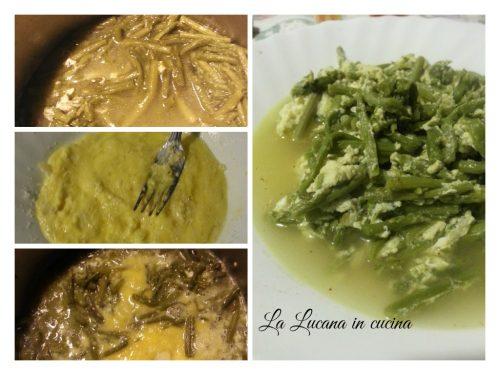 Zuppa di asparagi selvatici e uova