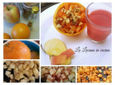 Coppe di arancia con mela alla strega