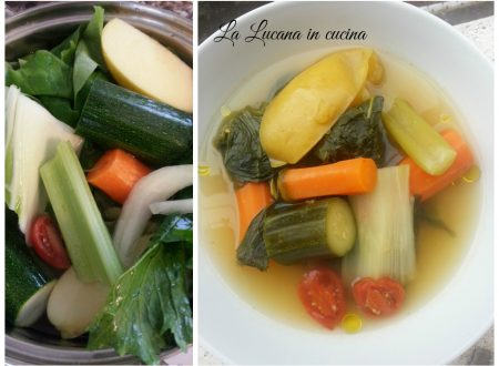 Zuppa vegana con verdure e mele