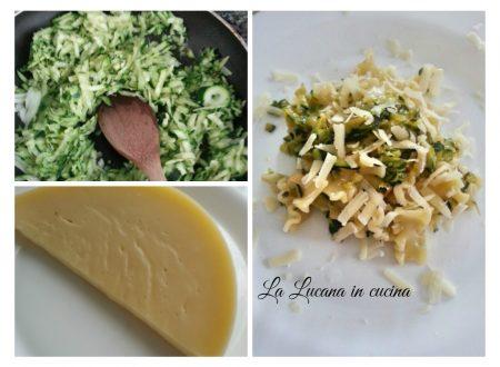 Pasta con zucchine e caciocavallo podolico lucano