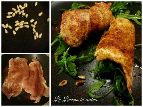 Pollo alla paprika con pinoli e rucola